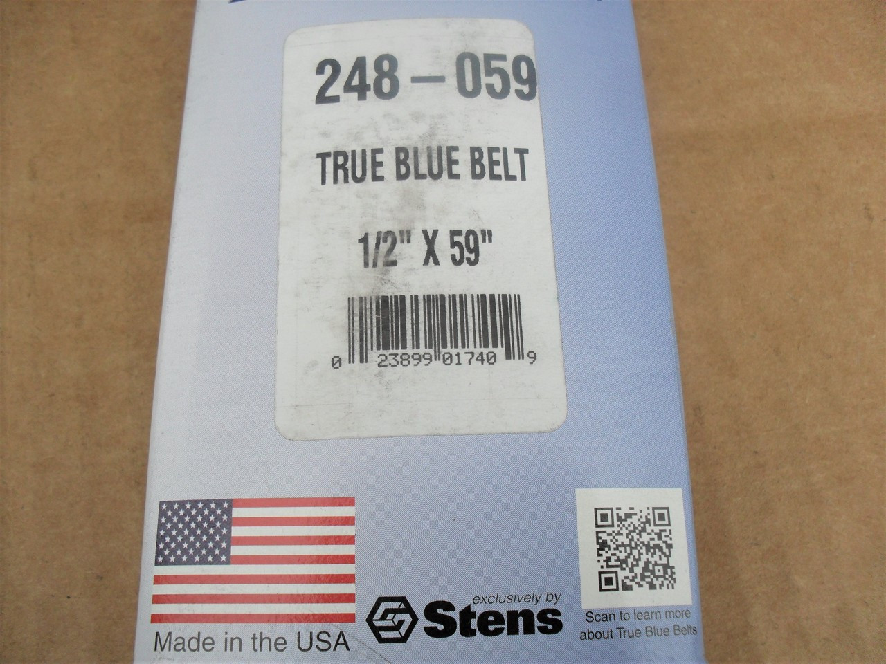 1 -Band 59 Length Rubber D/&D PowerDrive 248-059 Stens Kevlar Replacement Belt 4LK