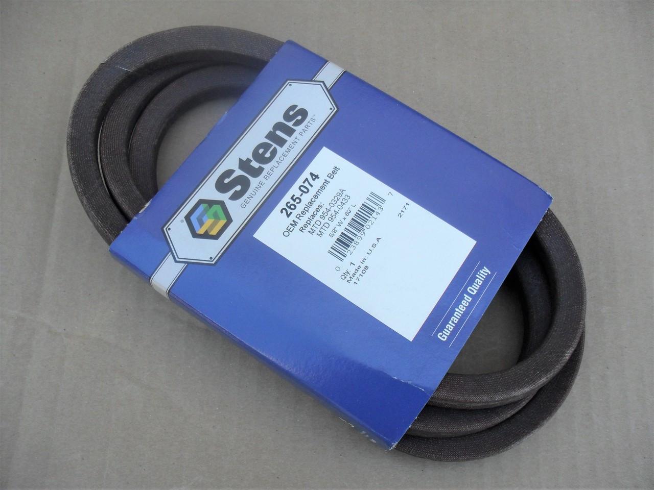 "Deck Belt for MTD 38"" Cut 754-0329A, 754-0433, 954-0329A, 954-0433, Made In USA"