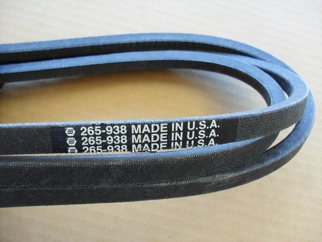 "Deck Belt for Ariens YT19H 42"" Cut 21547082, 21547188, 21547027"