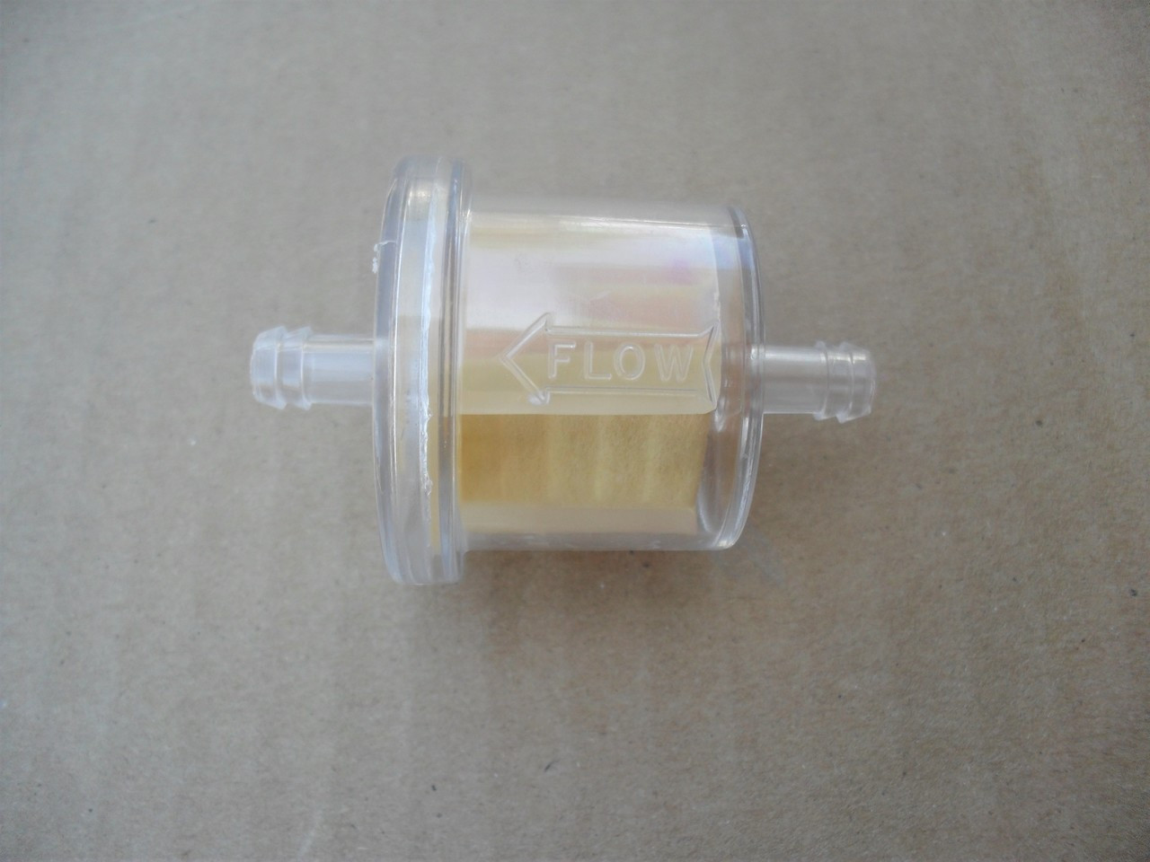 Clear Fuel Gas Filter for Tecumseh HM80, HM90, HM100, OHV125, OVM120,  OVXL120, TVM195, TVM220, TVXL220, 34279A, 34279B, 34729, 740003Bwww.lawnmowerpartstore.com