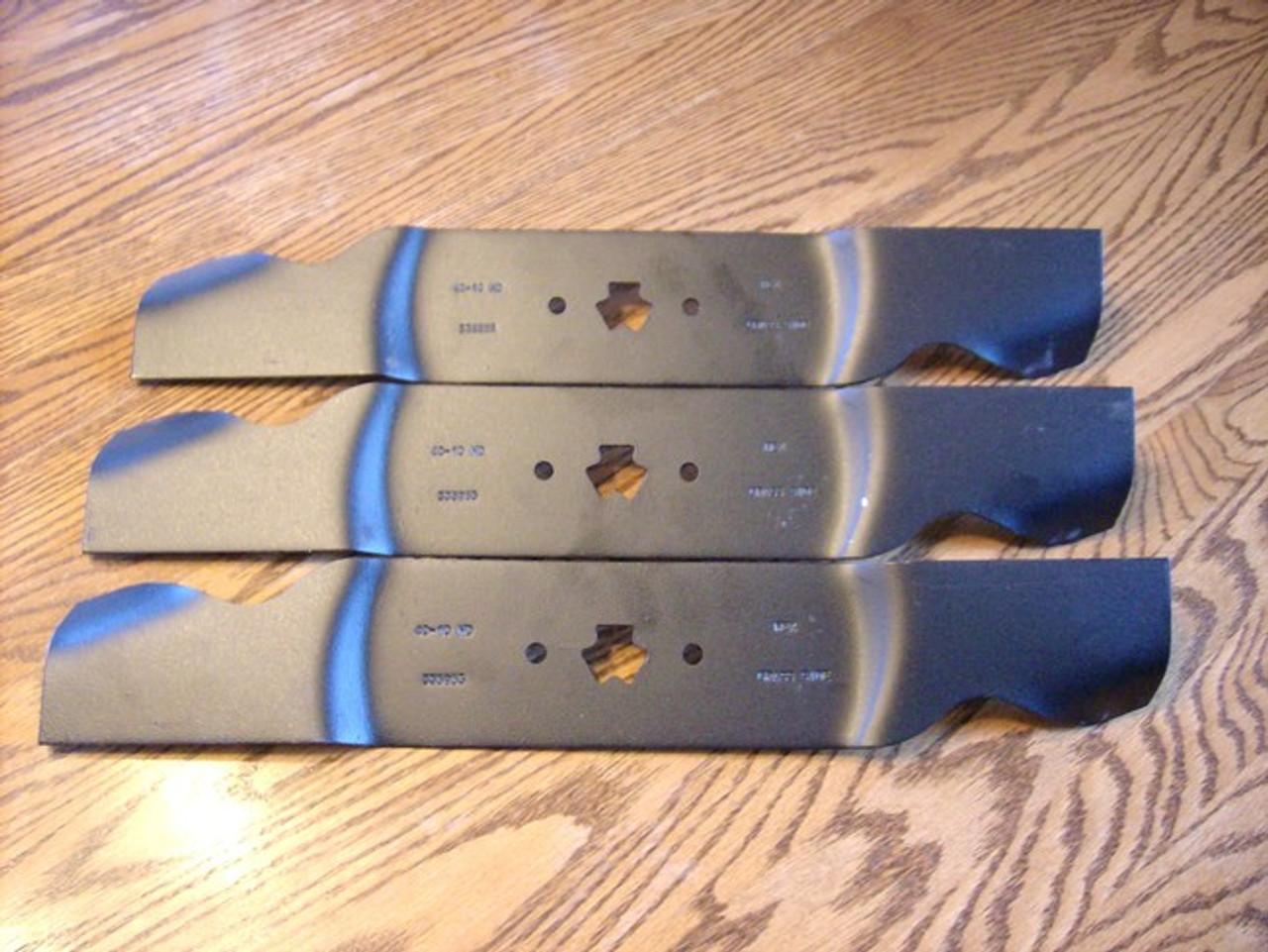 "3 Toothed Blades 54/"" Deck MTD Toro Cub Cadet Mowers 112-0931 742-0677B 942-0677B"