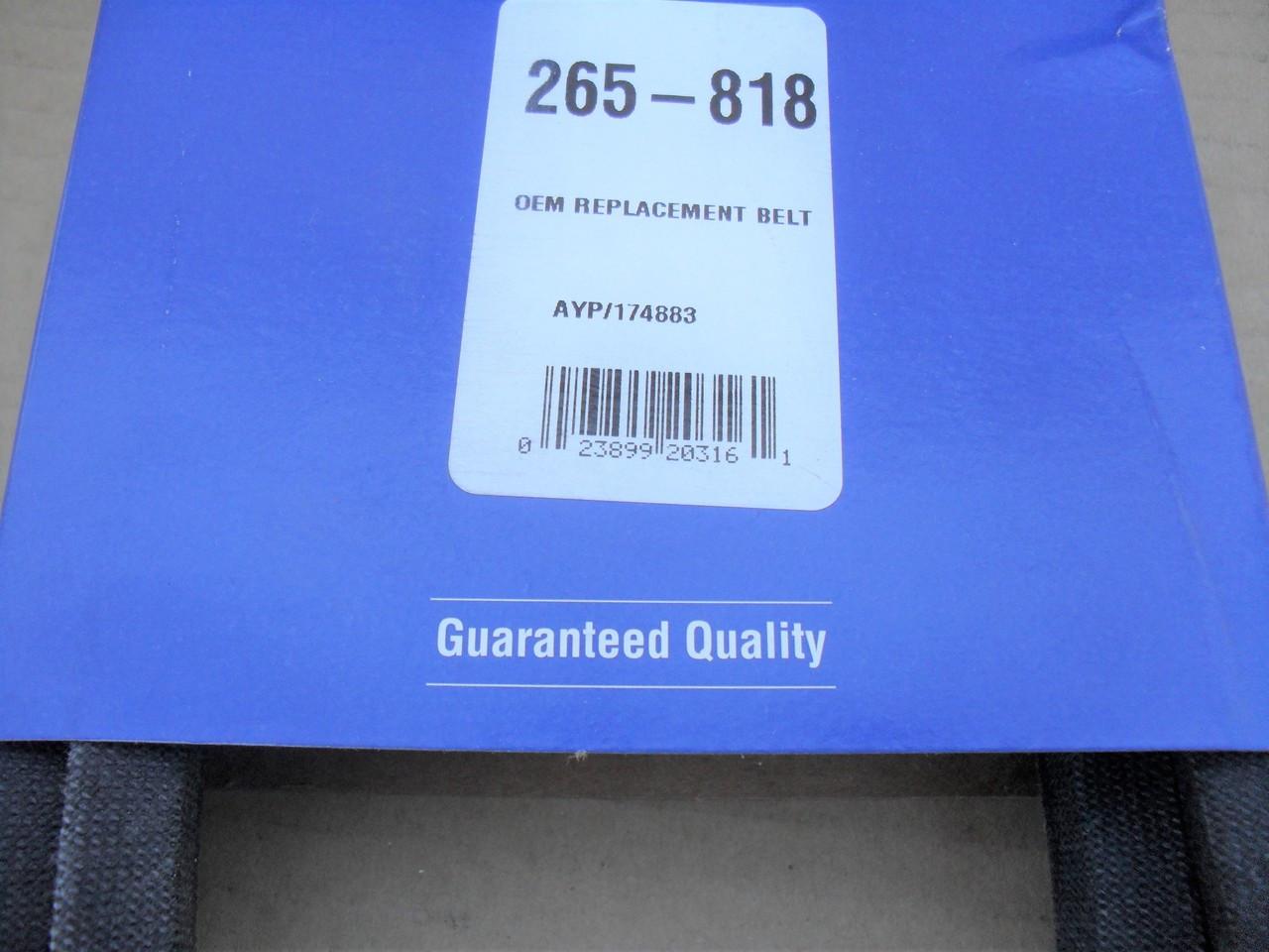 "Deck Belt for Husqvarna LTH1542, YTH1542, YTH1542XP, YTH2042, 42"" Cut, 174883, 531300767, 532174883, Made In USA"