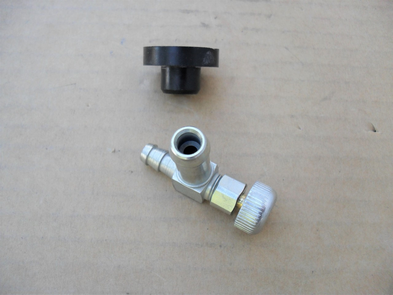 Fuel Shut Off Valve and Rubber Bushing for Troy Bilt 1738433, 935-0149, Made In USA