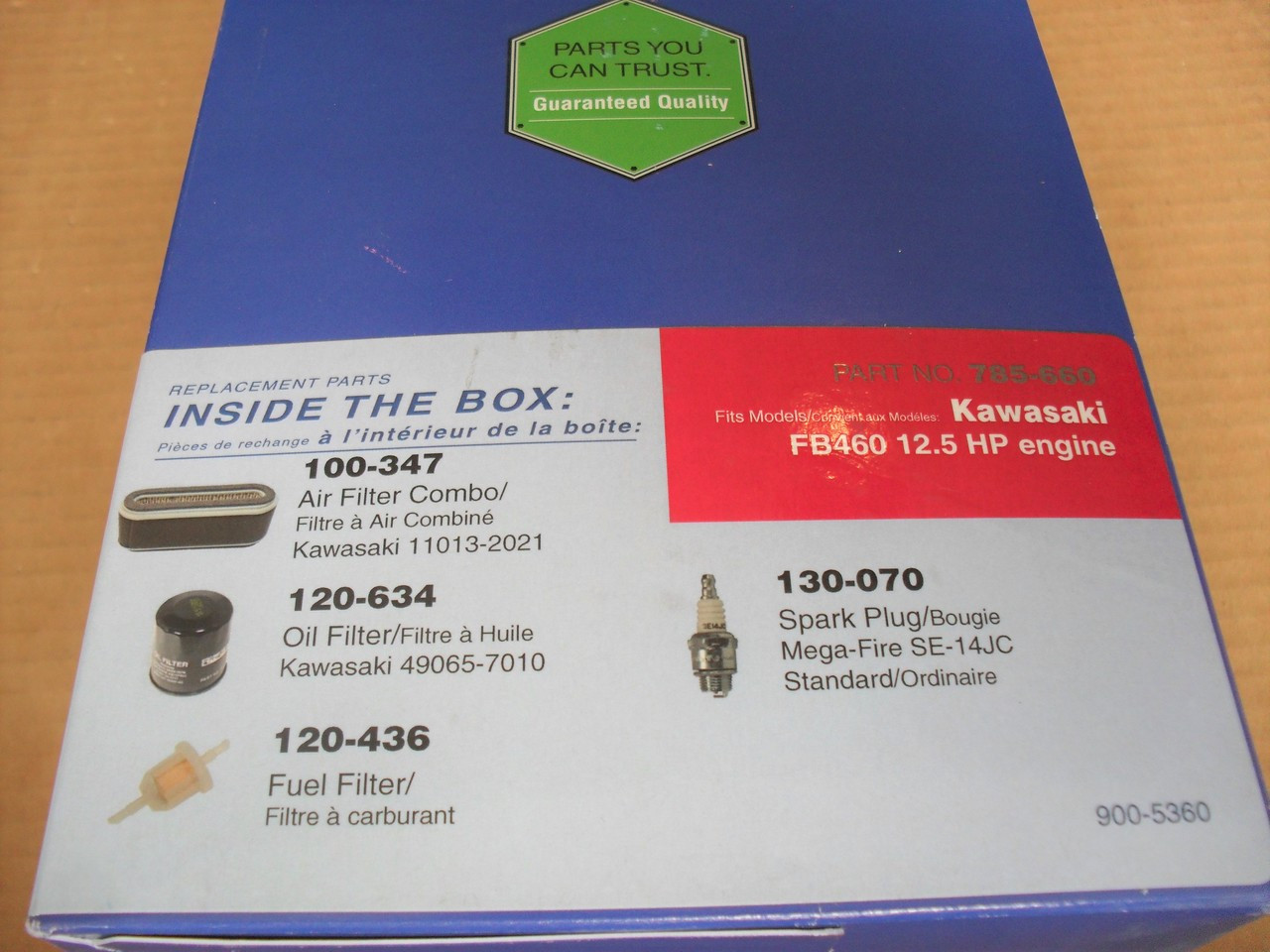Engine Tune Up Kit for Kawasaki FB460 Air Filter, Pre Filter, Spark Plug, Oil Filter, Gas Fuel Filter 110132021, 490657010 Maintenance