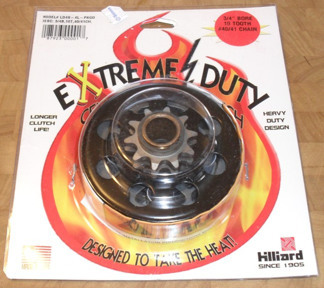"""Sprocket Clutch 10 Tooth 3//4/"""" Bore #40//41 Replaces Hilliard Ld4s-4L HILLIARD41"""
