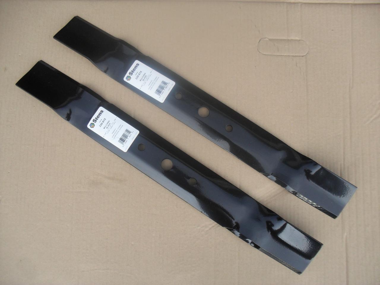 """Mulching Blades for John Deere 42"""" Cut GX20249, GX20433, GY20567 Sabre, Scotts L100, L108, L110, L111, L118, L1742, L17.542 Made In USA, Mulcher"""