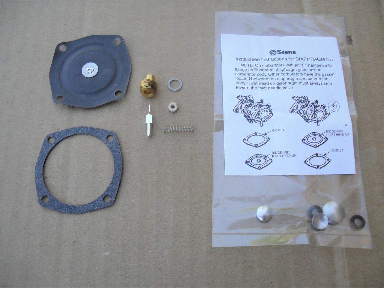 Carburetor Diaphragm Rebuild Kit for Tecumseh AH600, AV520, AV600, H22 to  H35, HS40, LAV30, LAV40, TVS600, TVS1400, TVS1500, 630752, 630759, 630823,