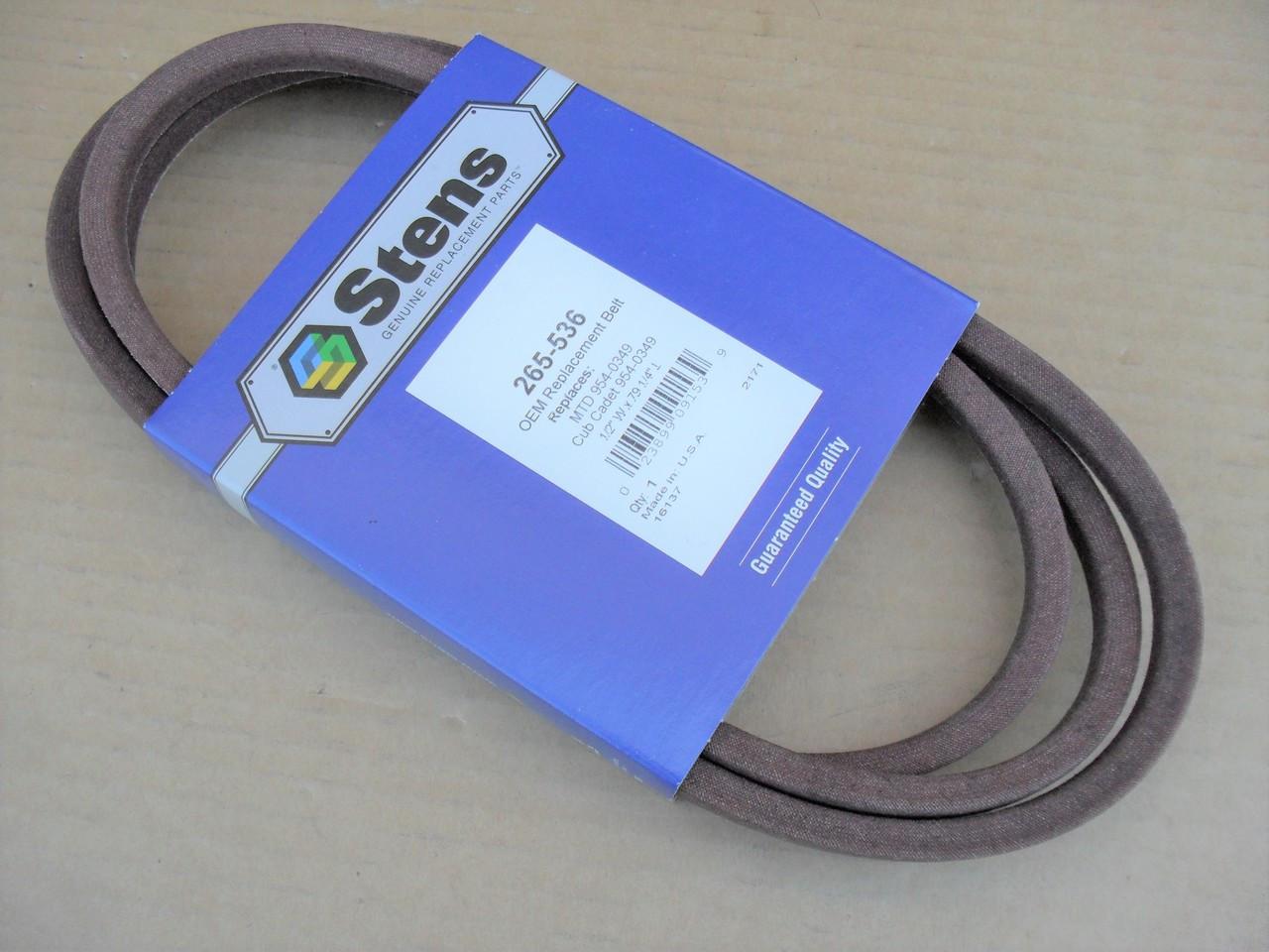 Deck Belt for Troy Bilt Super Bronco 754-0349, 954-0349 Made In USA