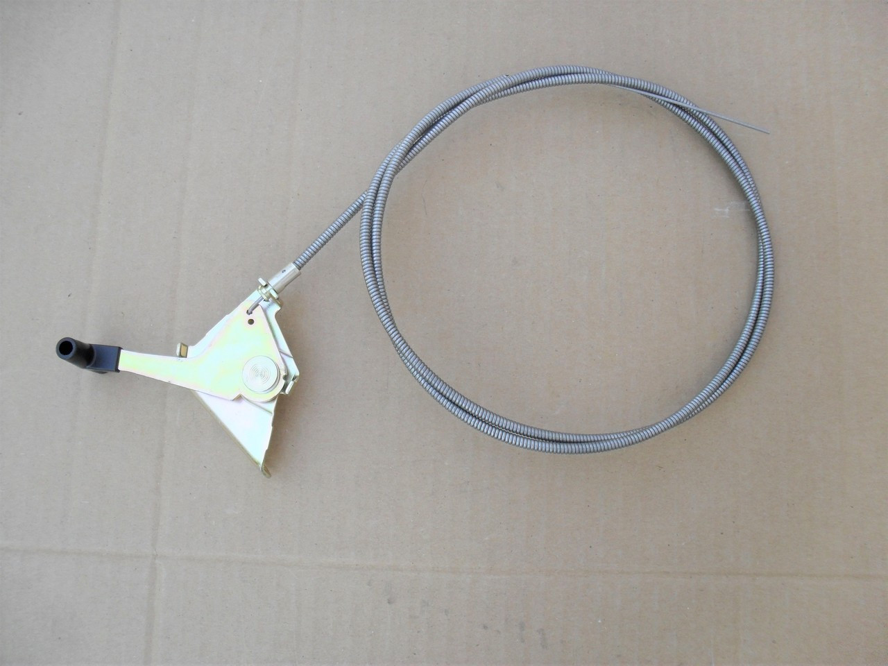 """Throttle Cable for Lawn Mower, Blower, Conduit Length 48"""", Inner Wire Length 52-3/4"""", 290-163, Made In USA"""