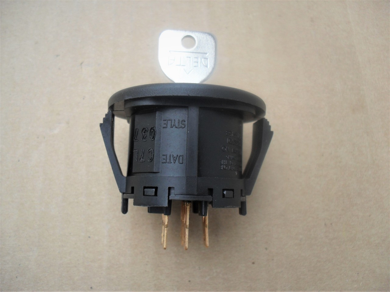 Ignition Starter Switch for MTD 725-04659, 925-04659, Delta 5 Terminals, Includes Key, Made In USA