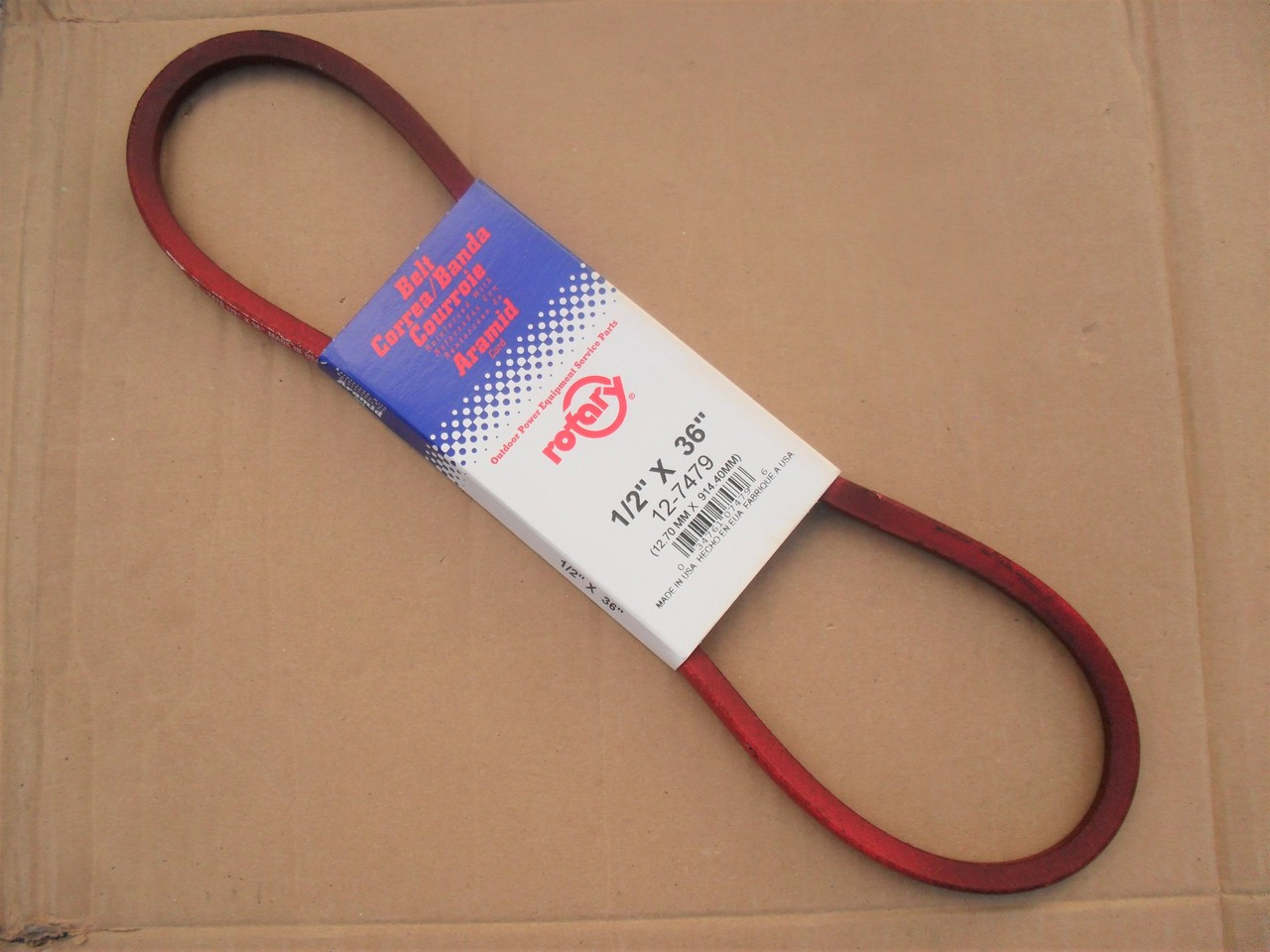 Belt for Allis Chalmers 1657806, 2026081, Made in USA