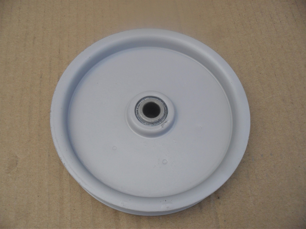 "Idler Pulley for Noma 33182, 44257, 51134, 57736, 57736MA, 8100, ID: 3/8"" OD: 4-1/2"" Made In USA"