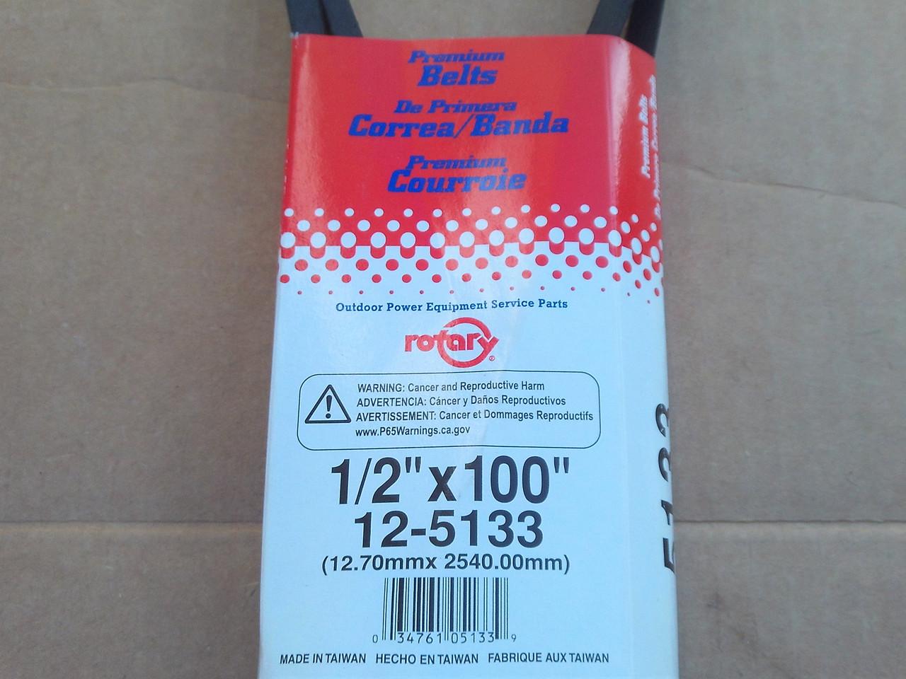"""Deck Belt for MTD 42"""" Cut 754-05021, 954-05021, 13APA1ZS099, 13AXA1KS897, 13APA1KS897, 5133"""