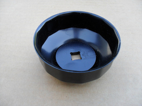 """Oil Filter Wrench for use with 3/8"""" drive tool 76 mm, 14 Flute 750-600"""