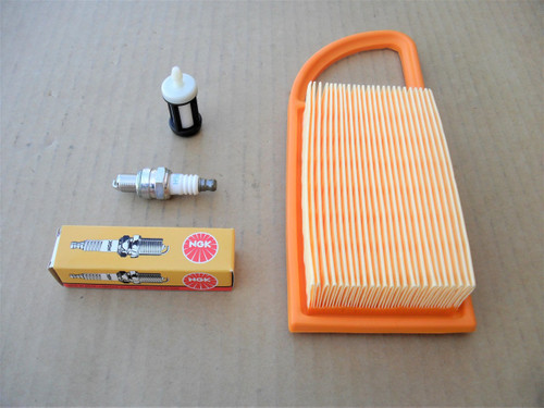 Air Filter, Spark Plug, Fuel Gas Filter for Stihl BR500, BR550, BR600 Backpack Blower 42820071800, 4282 007 1800, Tune Up Kit