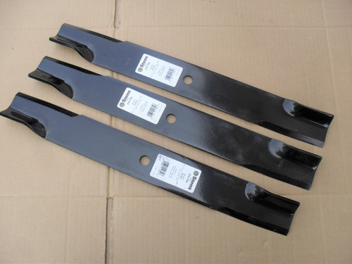 "Blades for Dixie Chopper 60"" Cut, 3022760, 3022760H, 3022760V, A6022760N, 30227-60, 30227-60H, 30227-60V, A60227-60N, Hi Lift Blade Set of 3, Made In USA"