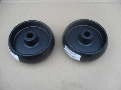 Deck Roller Wheel for John Deere G100, L100, L105, L107, L110, L120, L130, D100, D110, D120, D140, D160, D170, Z225, Z245, Z425, GX10168, Set of 2 Wheels, Made In USA