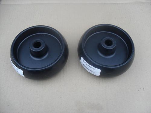 Deck Roller Wheel for John Deere G100, L100, L105, L107, L110, L120, L130, D100, D110, D120, D140, D160, D170, Z225, Z245, Z425, GX10168, Set of 2 Wheels, Made In USA
