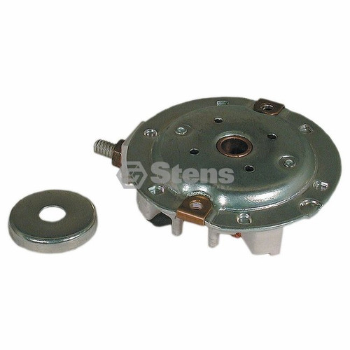 Electric Starter End Cap for Tecumseh OHV110, OHV125, OHV130, 35899, 36959, 37442, Includes Brushes