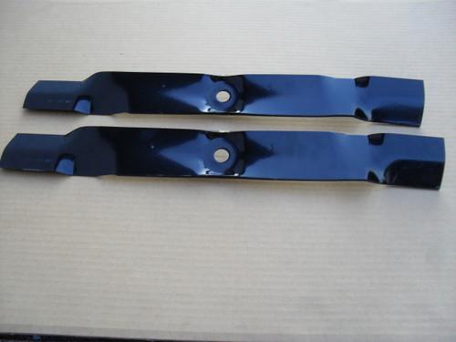"""Mulching Blades for John Deere LT160, 1742GS, 1742HS, Sabre 42"""" Cut M127129, M139802 Made In USA, Mulcher"""