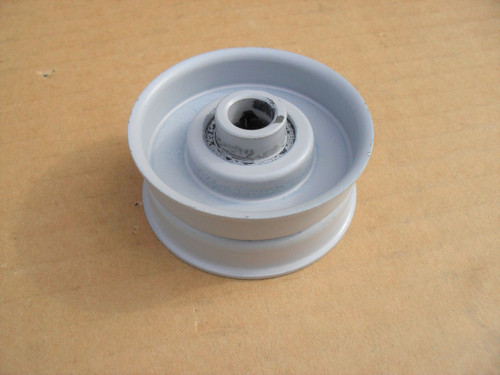 """Flat Idler Pulley for FMC 1729440, 172-9440, Height 7/8"""" ID 3/8"""" OD 2"""""""
