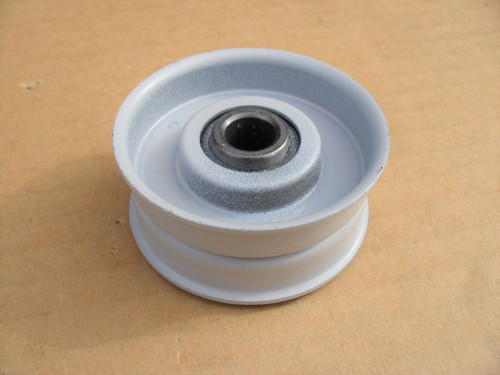 """Flat Idler Pulley for FMC 1729440, 172-9440, Height 7/8"""" ID 3/8"""" OD 2"""" Made In USA"""