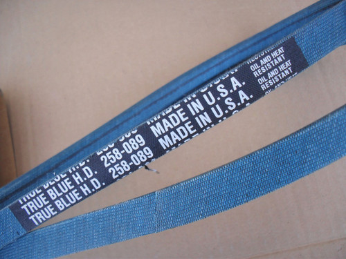 """Belt for MTD Hydraulic Roto Tiller 30"""", 754-0341, 954-0341, White Outdoor, Made In USA, Kevlar cord, Oil and heat resistant"""