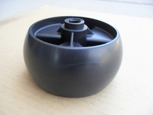 """Deck Wheel for Cub Cadet GT1554, GT2042, GT2148, LGT1054, LT1040, LTX1045, RZT42, 734-04155 Made In USA, 5"""" Tall x 2-3/4"""" Wide, Includes Grease Fitting"""