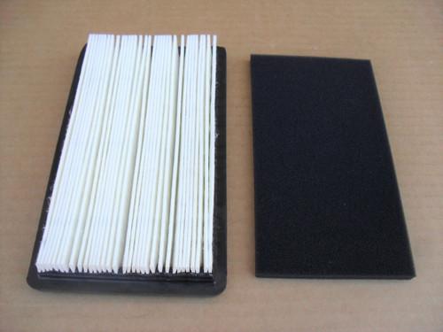 Air Filter for Robin Subaru EX35 and EX40, 20B-32610-H7, 20B32610H7, 20B-32610-J7, 20B32610J7 includes foam pre cleaner
