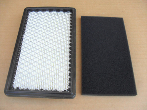 Air Filter for Robin Subaru EX35 and EX40, 20B-32610-H7, 20B32610H7, 20B-32610-J7, 20B32610J7 includes foam pre cleaner