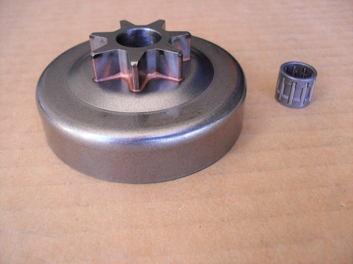 Clutch Drum with Bearing for Poulan 255, 295, 2600, 2500, 2750, 2775, 2900, 3050, P600, PP295, PP210 and 2150, 530-069342, 530069342 chainsaw sprocket