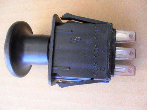 Delta PTO On Off Switch 6201303, 6204303, 6201-303, 6204-303, 8 Terminals, Lawn Mower, Made In USA