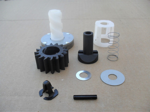 Aluminum Gear 399676 696537 Stens 150-435 Metal Flywheel Ring Gear Includes Mounting Hardware and Starter Gear Replaces Briggs and Stratton: 392134