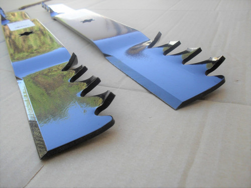 "Mulching Blades for MTD 42"" Cut 742-0616, 742-0616A, 742-616A, 942-0616, 942-0616X, 942-0616A, 942-616, 942-616A, Made In USA, Toothed mulcher"