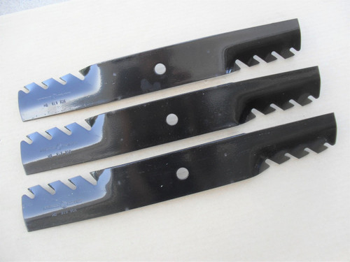 "Toothed Mulching Blades for Great Dane 52"" Cut D18037, GDU10231, mulcher, Made In USA"