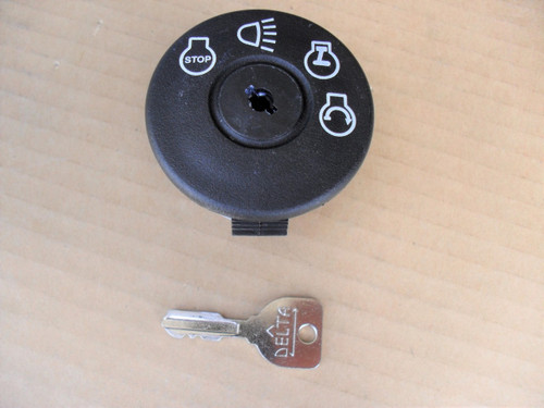 Delta Lawn Mower Ignition Starter Switch 690047P, 6900-47P, Includes Key, Made In USA