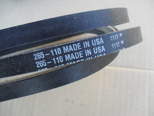 Engine to Deck Belt for Scotts S2048, S2348, S2554, 1842GV, 1848GV and 1948GV, GY20572, M110312, Made In USA