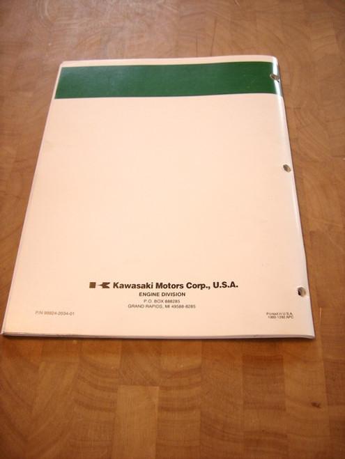 Kawasaki FC180V service manual repair manual workshop manual 99924-2034-01