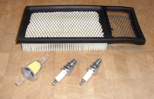 EZ GO Tune Up Kit with Air Filter, Fuel Filter, 2 Spark Plugs, plug