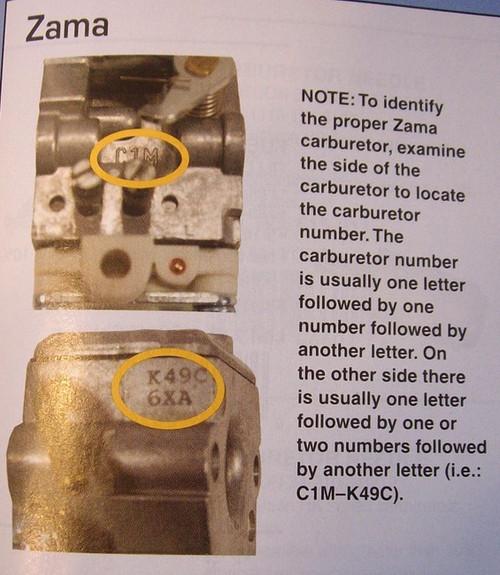 Carburetor Rebuild Kit for Power Pruner Zama C1U to M16 carburetors GND13, GND-13