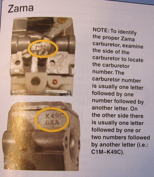 Carburetor Rebuild Kit for Green Machine JP260, Zama C1U to M16 carburetors GND13, GND-13