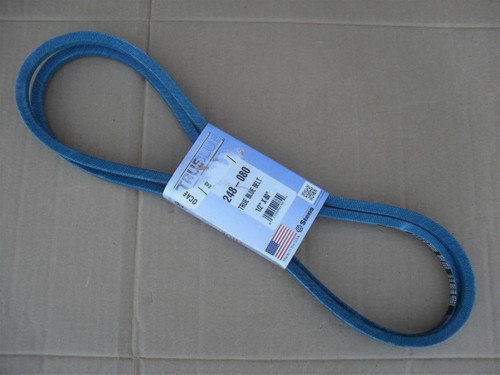 Primary Deck Drive Belt for John Deere M47766, M73223, Made in USA, Kevlar cord, Oil and heat resistant