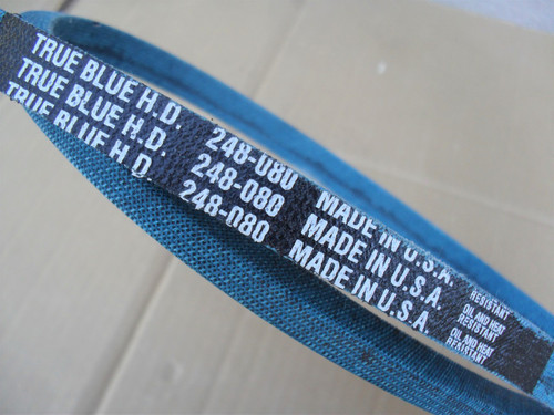 "Deck Belt for Case 444, 446, 448, 48"" Cut, C14965, C22708, C27708, C29680, C29878, Made in USA, Kevlar cord, Oil and heat resistant"