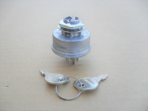 Ignition Starter Switch for Noma 091846, 300687, 5 Terminals, Made In USA, Includes Keys