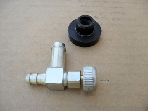 Gas Tank Fuel Shut Off Valve and Rubber Bushing MTD 735-014, 735-0149, 935-0149, 751-0171, 951-0171, Made In USA