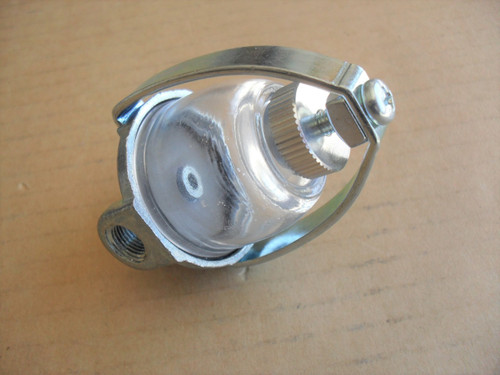 Glass Gas Fuel Filter Sediment Bowl Assembly for Clinton 293325, 293-32-5