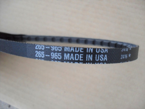 PTO Belt for Walker 6250 Lawn Mower, Made In USA