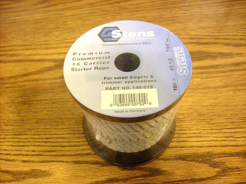 Starter Rope for Chainsaw, String Trimmer, Leaf Blower, 100 Foot Long Shop Roll # 3-1/2, 146-019