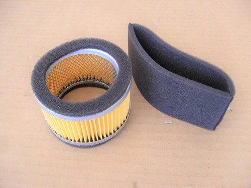 Air Filter for Subaru Robin EC13V, 1573261008, 1573620101, 157-32610-08, 157-36201-01 Includes Pre Cleaner