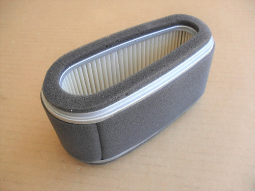 Air Filter for Kawasaki FC401V, FC420V, 11013-2109, 11013-2110, 11013-2141, 110132109, 110132110, 110132141 Includes Foam Pre Cleaner